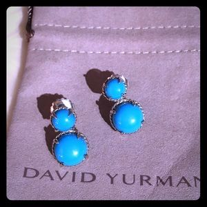 DAVID YURMAN Chatelaine Drop Turquoise Earrings